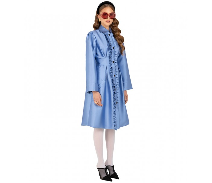 Dress/ Coat with Ruffles
