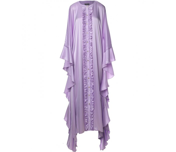 Kaftan with Gold-Tone Buttons