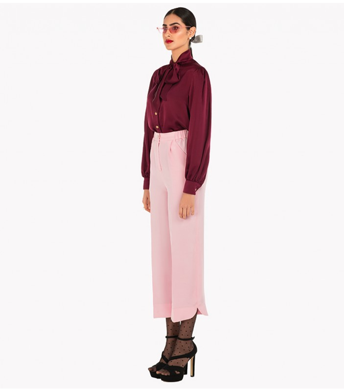 Silk Crepe Trousers